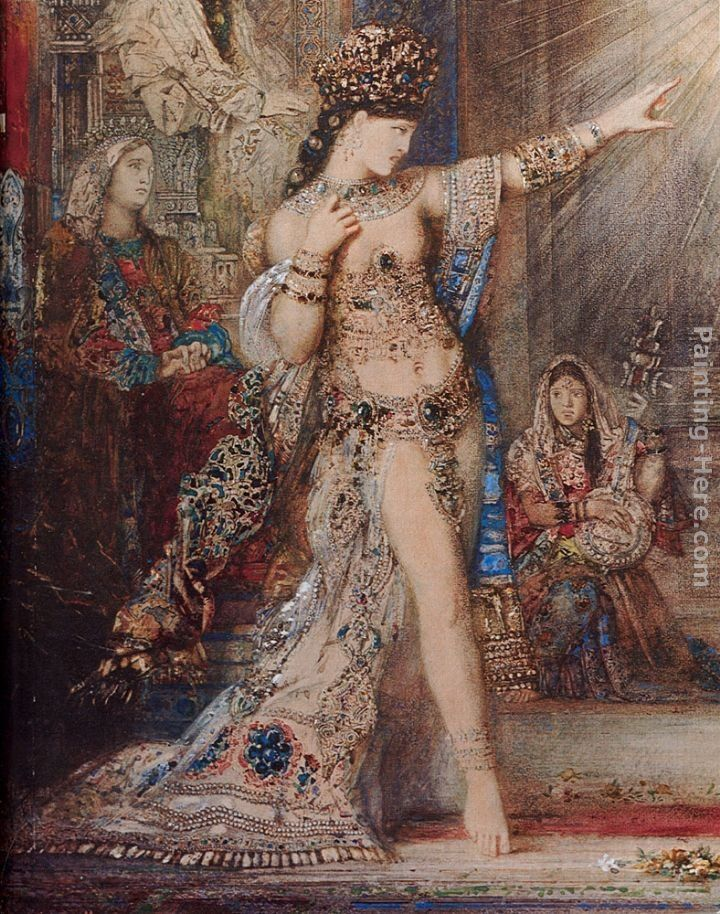Gustave Moreau The Apparition [detail]